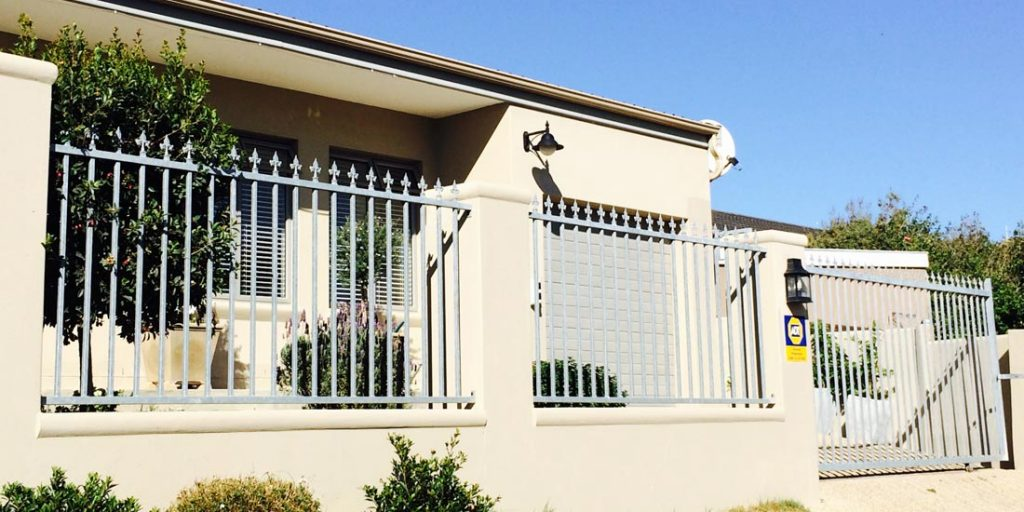 Steel fencing panels & sliding gate