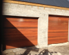 2 x Horizontal slatted meranti sectional doors
