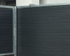 Sliding & pedestrian gate with aluzinc doors - Charcoal, horizontal slatted